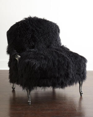 Old Hickory Tannery Worthen Noir Sheepskin Chair