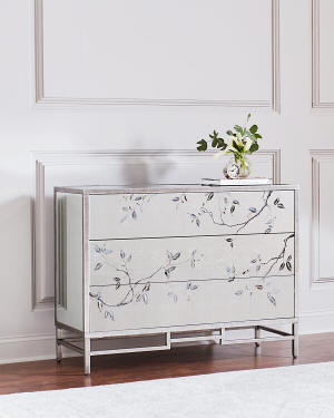 John-Richard Collection Framura Eglomise Three-Drawer Chest