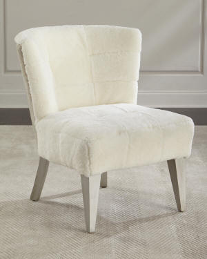 Massoud Paulette Shearling Accent Chair