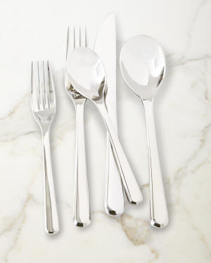 Nambe Aura 45-Piece Flatware Set