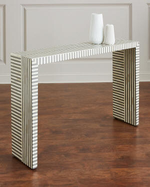 Interlude Home Farrah Bone Inlay Console Table
