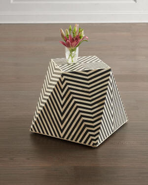 Azle Bone Inlay End Table