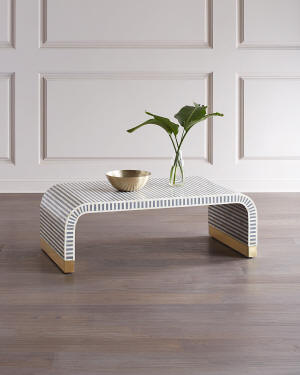 Interlude Home Beacon Bone Inlay Coffee Table