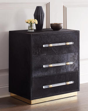 Interlude Home Cassian Hairhide 3-Drawer Chest
