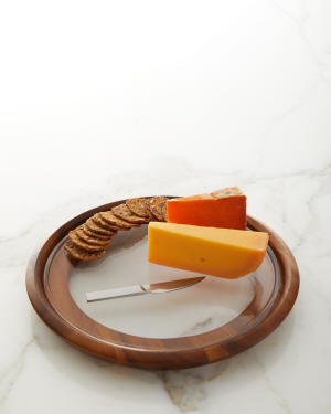 Nambe Cooper Cheese Tray with Knife