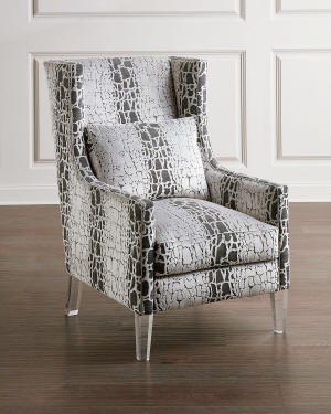 John-Richard Collection High-Back Wing Chair