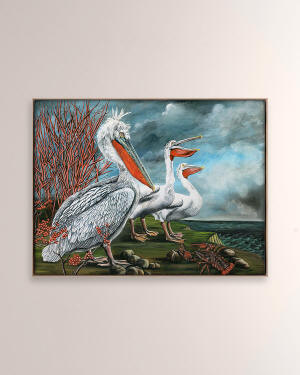 "Grand Image Home ""Pelicans"" Digital Art Print on Canvas by Thicket Design"